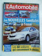 L'AUTOMOBILE MAGAZINE N°655 12/2000 LAGUNA PASSAT A4 VOLVO S40 206 CC ALFA 147