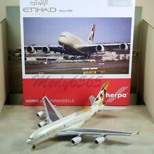 """Herpa Wings Etihad """"New Color"""" Airbus A380 1/200"""