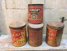 Lot Of 4 Vintage Tobacco Can Main Brace Cut Plug J.G. Dill's, Target Cigarette