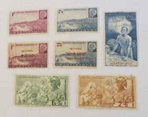 France Martinique 1941 - 44 small collection Vichy unused