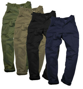 "Mens Plain Combat Work Walking Multi Pocket Strong Trousers Tradesmen 28-44"""