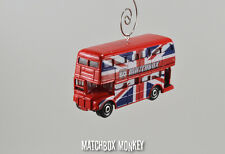 AEC Routemaster London Double Decker Bus British Flag Christmas Ornament 1/64