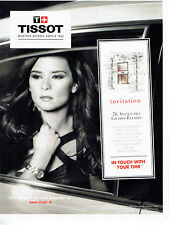 Publicité Advertising 058  2010   boutique montres Tissot &  Danica Patrick invi