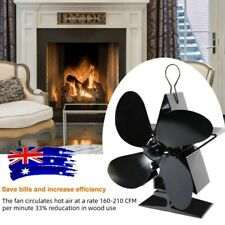 1500rpm 4 Blade Wood Heater Stove Fan Fireplace Fire Heat Powered Circulatin AU