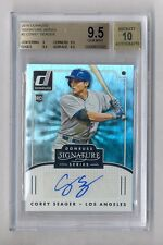 COREY SEAGER 2016 DONRUSS SIGNATURE AUTO ROOKIE RC DODGERS BGS 9.5 10
