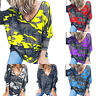 Womens Camouflage T Shirt V Neck Short Sleeve Camo Tee Summer Casual Tops Baggy