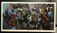 CIVIL WAR Art Print SIGNED By GABRIELE DELL'OTTO Art Print LUCCA