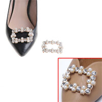 1PC Shoe Clips Rhinestones Metal Faux Pearl Bridal Prom Shoes Buckle Decor HC
