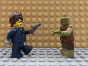 2 LEGO Brand New Mini Figures Policeman & Gun Zombie Apocalypse Dead Person Set