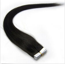 Blue human hair hair extensions ebay 16 24seamless tape in skin weft 10025 indian real remy pmusecretfo Image collections