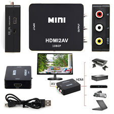 HDMI to 3 RCA CVBS Full HD Video 1080P AV Composite Converter Adapter For PC TV