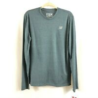 New Balance Mens Heathered Long Sleeve Top T Shirt Moisture Wicking Gray Size M