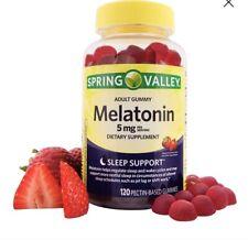 Spring Valley Adult Gummy Melatonin 5mg Strawberry Flavor 120 Gummies