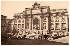 Italie, Roma, Fontana di Trevi Vintage albumen print.  Tirage albuminé  18x2