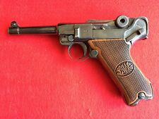 WWI Luger P.08 Pistol Grips Walnut wood DWM engraved 334
