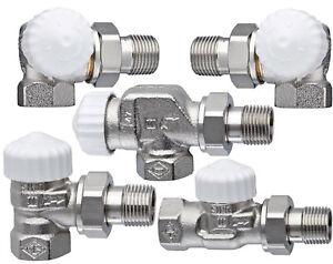 Heimeier Thermostatventil V-Exakt II 3/8 1/2 3/4 Eck Winkeleck Durchgang Axial