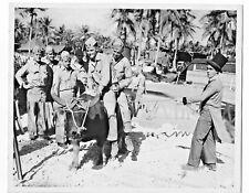 1945 PHOTO WW2 U.S.MARINE'S 3RD DIV. HAVE CARNIVAL POST IWO JIMA-BUFFALO RIDE