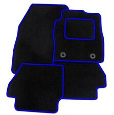 Vauxhall Vectra C 03-08-Tailored Fitted Carpet Car Floor BLACK MATS BLUE EDGING