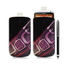 Housse coque étui pochette pour HTC One X avec motif HF07 + Stylet luxe
