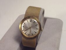 Vintage wind up timex watch ladies round white face gold tone manual wind mech