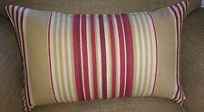 Laura Ashley Irving a righe mirtillo rosso tessuto Copricuscino Guanciale cilindrico