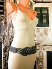 Snake skin hippie boho PU faux leather look wide belt fashion belt 10 R16422B