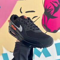 Nike Air Max 90 Black Orange SKU-DJ6881-001 **SAME DAY SHIPPING**