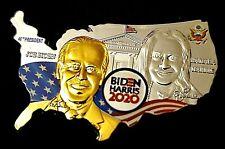 Joe Biden Gold Silver Coin Map USA State Flags President US Kamala Harris Signed