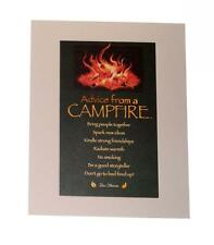 "Advice from a Advice from  a Campfire 8"" x 10"" Matted Picture ready to hang"