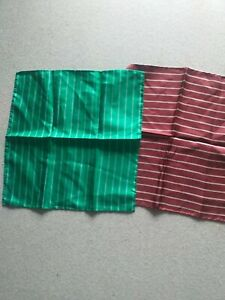 2 X Silk pocket SQUARES made in ITALY unbranded new