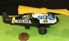 Vintage ND Japan tin litho Friction Police  Helicopter made in Japan HP