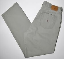 """TOMMY HILFIGER Jeans Lightweight Green Denim Straight Leg Sz 10 W 30"""" Inseam 29"""""""