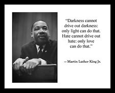 Martin Luther King Jr. Large 11x14 Photo Print with Quote MLK Civil Rights