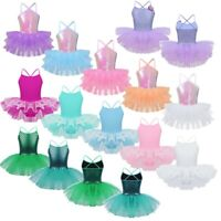Girls Sequined Ballet/Dance/Gymnastic Leotard Dress Tutu Skirt Dancewear Costume