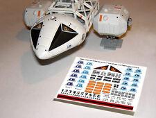 """Space 1999 eagle decals-mpc & pe - 12"""" pouces-modèles cockpit pilotes & détails"""