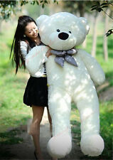 Popular White Teddy Bear Plush Huge Stuffed Soft Toys Valentine Gifts 160cm/63''