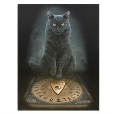 HIS MASTERS VOICE LISA PARKER SMALL CANVAS PICTURE PRINT GOTHIC WITCH CAT OUIJA