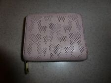 Fossil Small Pink Leather Wallet Lama Heart Pierced