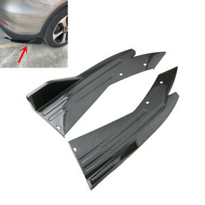 Car Body Side Skirt Spoiler Splitter Rear Lip Diffuser Winglet Wings Carbon Look