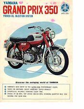 1968 Yamaha 350 Grand Prix YR1  motorcycle sales brochure, (Reprint) $7.50