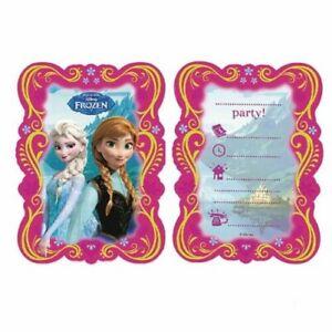Disney Eiskönigin Einladungskarten Karten Mit Umschläge Geburtstag Mädchen Party