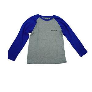 Calvin Klein Boy's Long Sleeve Raglan T Shirt Blue Gray Size 5