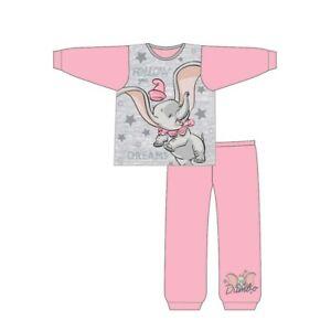 Dumbo the Elephant Girls Pyjamas Kids Long Sleeve Nightwear PJs Cotton Pink