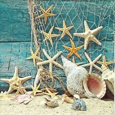 4x Paper Napkins -Starfish- for Party, Decoupage