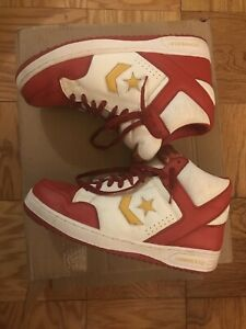 2001 Converse Weapon High Top Mens Shoes Size 13 Red, White & Yellow