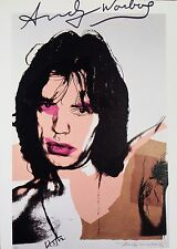 ANDY WARHOL HAND SIGNED SIGNATURE * MICK JAGGER *  PRINT  W/ C.O.A.