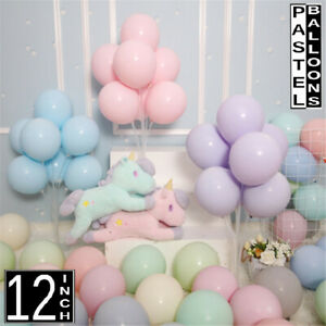 "12"" inch Quality Macaron Pastel balloons Round Latex Choose Colour baloons 10pcs"