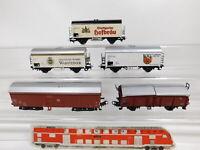 CF927-1# 5x Märklin H0/AC Güterwagen DB: Warsteiner/Hofbräu (4415) etc gebraucht