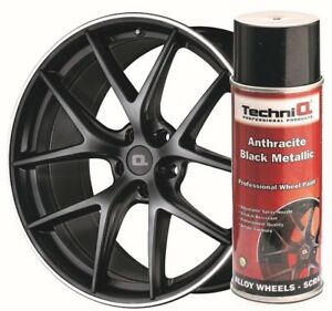 Alloy Wheel Paint Spray Anthracite Black Metallic 400ml Can Scratch Resistant