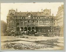France, Paris, Chantier devant la Gare St-Lazare, ca.1905, vintage silver print